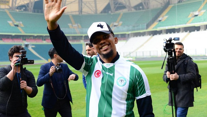 Eto'o signs for Konyaspor from Antalyaspor