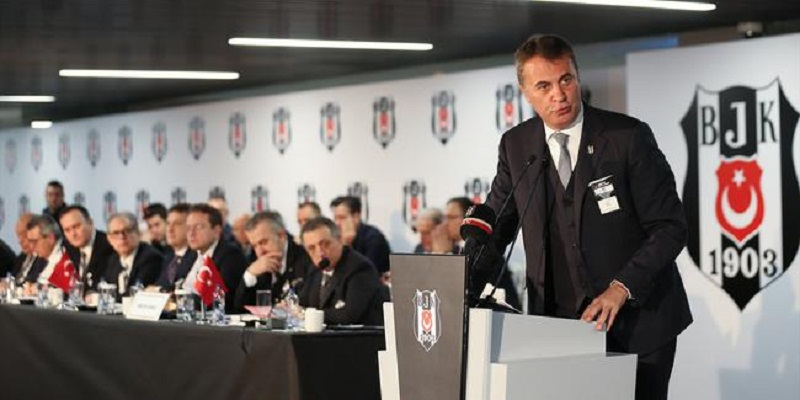 Besiktas President Fikret orman announced club's debt today.