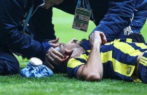 Mehmet Topal injured with a lighter during Besiktas-Fenerbahce derby