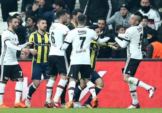 Turkish Cup derby Besiktas Fenerbahce 4 goals 3 red cards