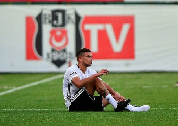 Besiktas defender Pepe out for one month
