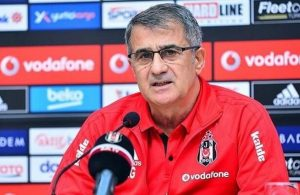 Senol Gunes speaks during press conference before Bayern Munich clash