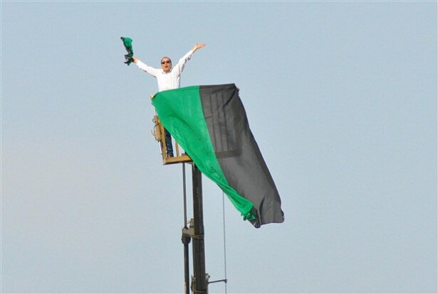 Denizlispor fan uses crane to watch match