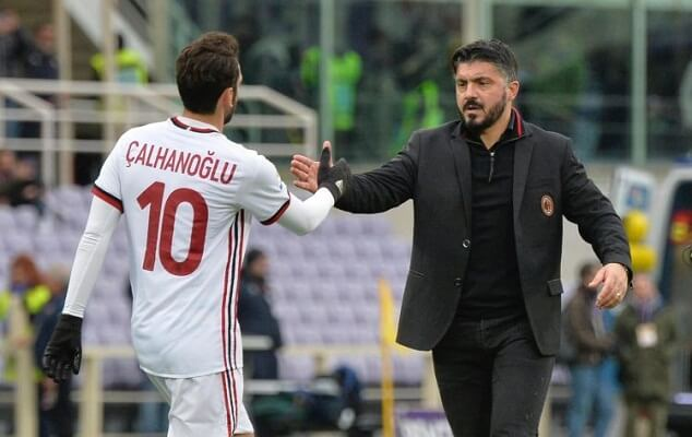 Hakan Calhanoglu says Gattuso helped him improve
