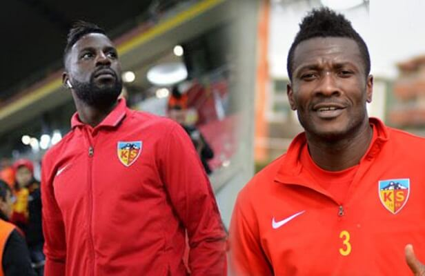 Kayserispor president says club is in talks with Gyan, Varela