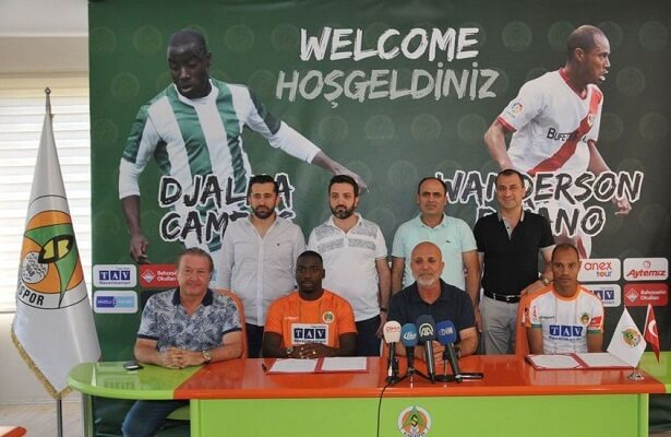 Alanyaspor sign Djalma Campos and Baiano