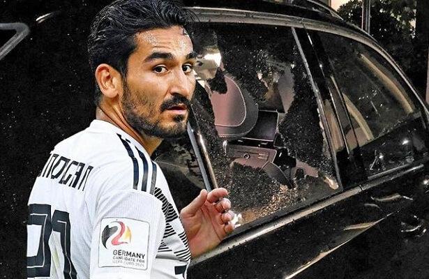 Angry German fans destroy Ilkay Gundogan's car