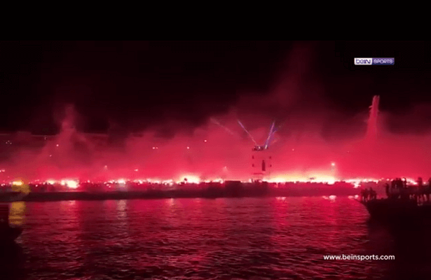 "Goztepe fans set city on ""fire"" for club's 93rd birthday"