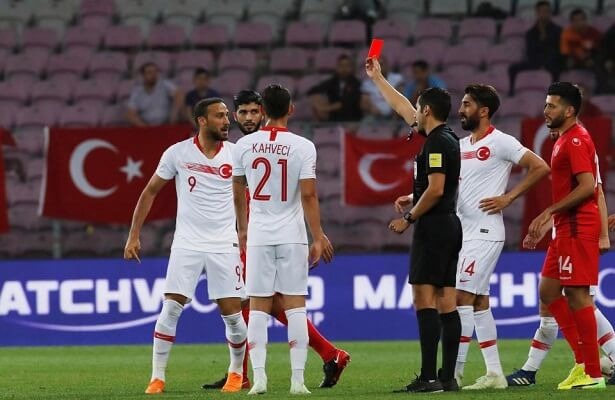 Cenk Tosun sent off during Turkey friendly