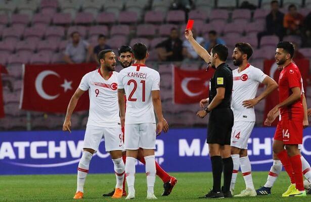 Cenk Tosun sent off during Turkey friendly