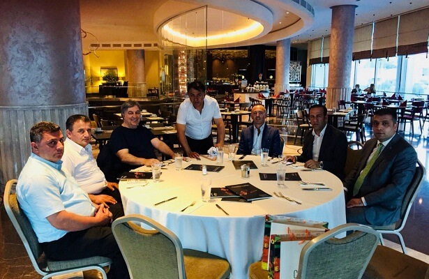 Malatyaspor president meets with FC Lugano counterpart