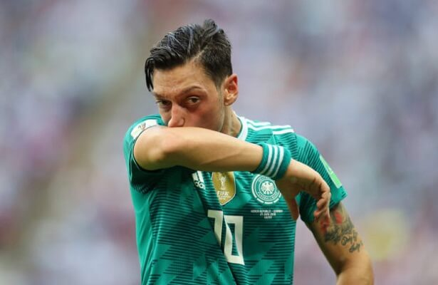 Mesut Ozil reacts to shock exit