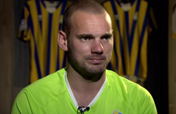 Wesley Sneijder says he didn't want to leave