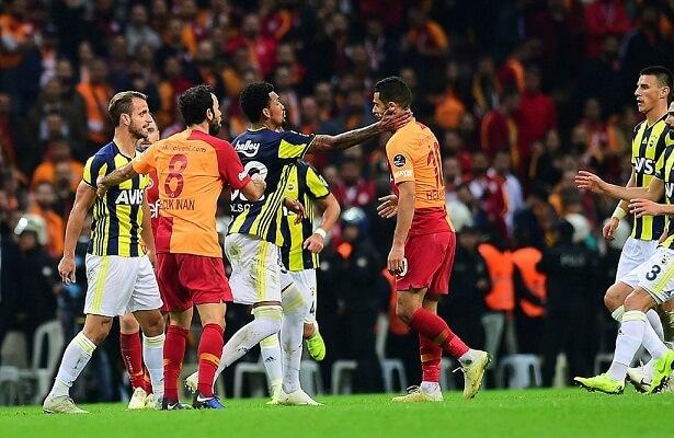 Jailson slaps Belhanda Galatasaray Fenerbahce derby