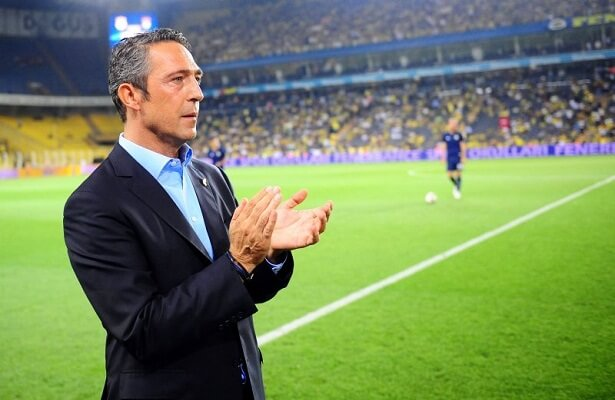 Fenerbahce president Koc in England to meet with coach