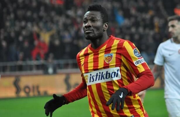 Kayserispor Gyan out for 2 weeks