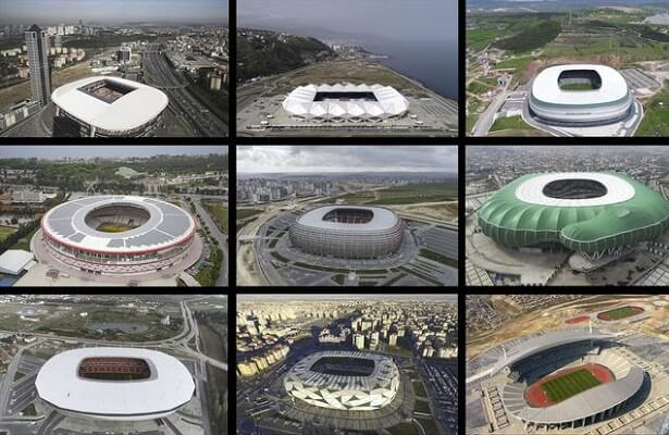Turkey applauded for new stadium projects. Turkish stadiums