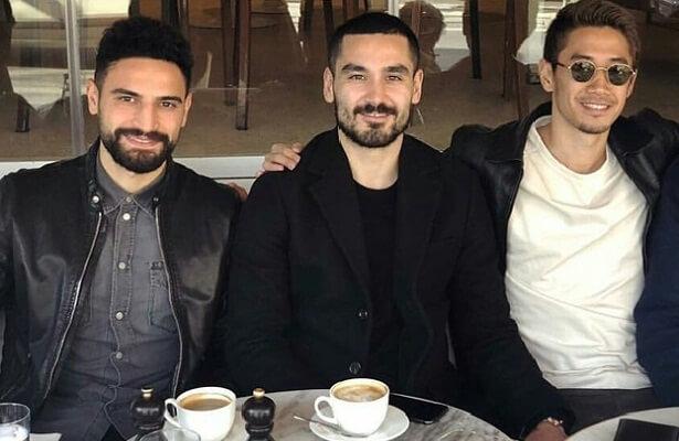 Ilkay Gundogan visits former teammates in Istanbul