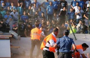 Super Lig promotion play-off marred by crowd disturbance