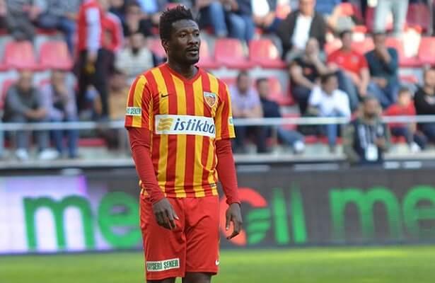 Ghana striker Asamoah Gyan sues Kayserispor
