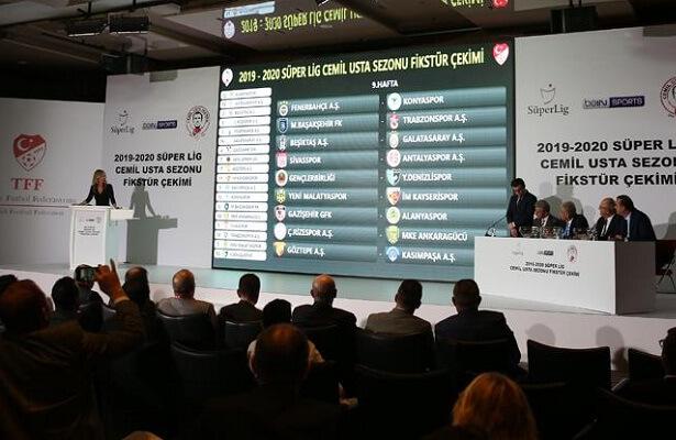 2019-20 Turkish Super Lig fixtures drawn