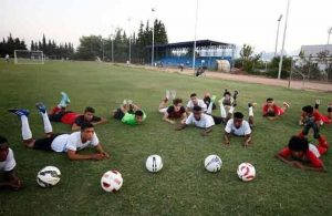 Young footballers hope to impress clubs at trials in Antalya